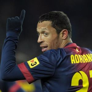 Barcas Adriano out of Sevilla clash