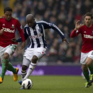 Luck smiles on West Brom in win over Swansea