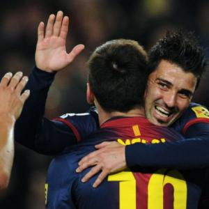 Barcelona on target as Messi, Villa combine to sink Rayo Vallecano