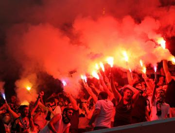Two detained over attack on Turkish football club