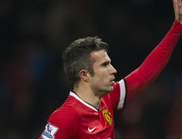 Manchester United fans prepare to say goodbye to Robin van Persie