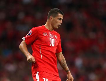 Granit Xhaka gets better of his brother as Switzerland edge out Albania
