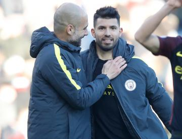 Sergio Aguero 'gets on very well' with Man City boss Pep Guardiola