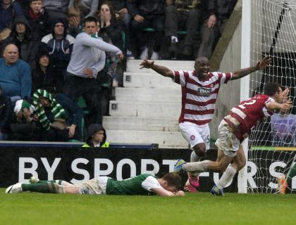 Hibs go down after penalty drama