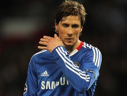 torres in chelsea. his first goal in Chelsea