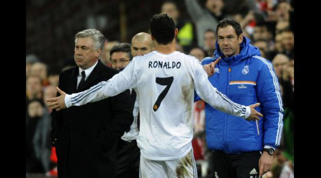 Ancellotti unhappy at Ronaldo red card