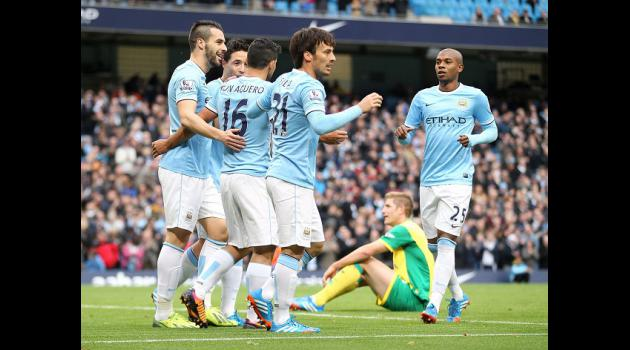 City hit seven past Norwich