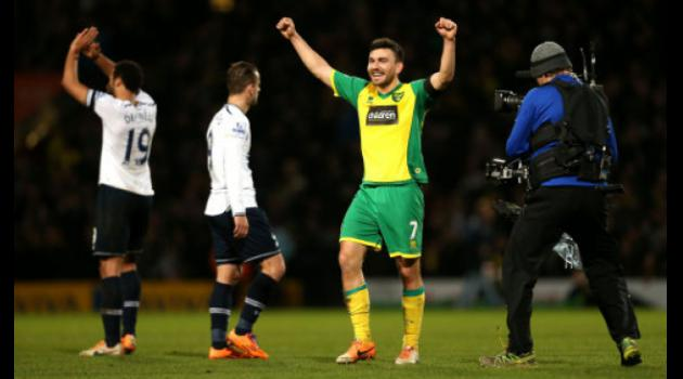 Norwich City 1-0 Tottenham : Snodgrass strikes to lift Hughton pressure