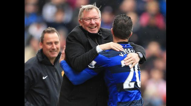 Sir Alex Ferguson delighted with Robin Van Persie after Stoke City win
