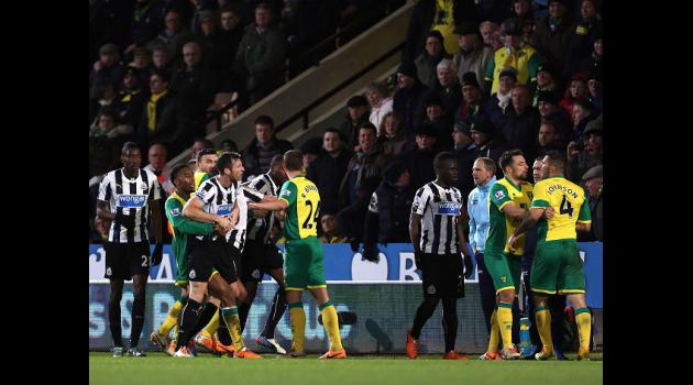 Newcastle and Norwich fined over melee