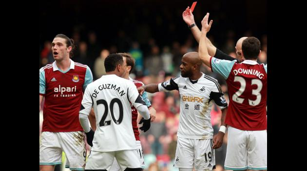 West Ham appeal Carroll red card