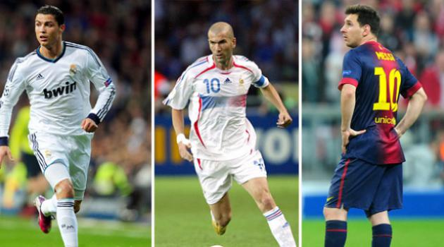 The World XI to rule them all - featuring Ronaldo, Messi and Zidane.