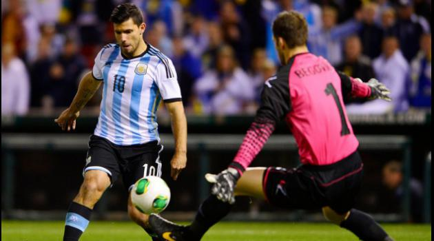 Aguero double as Argentina down Bosnia