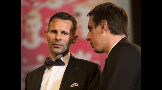 Neville and Giggs in Salford talks
