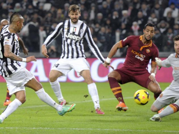 Juve go eight clear after routing nine-man Roma