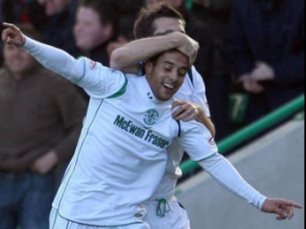 Samaras happy to see Hibs compete