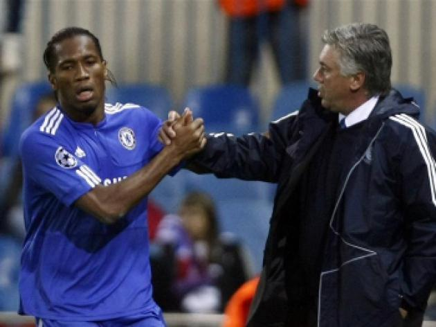 Ancelotti heaps praise on goal hero Drogba