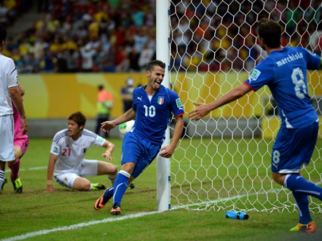 Italy eliminate Japan in thriller, Brazil advance
