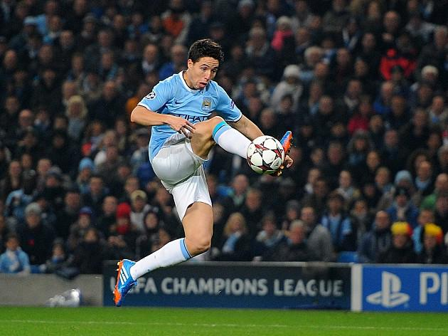 Nasri happy with City progress