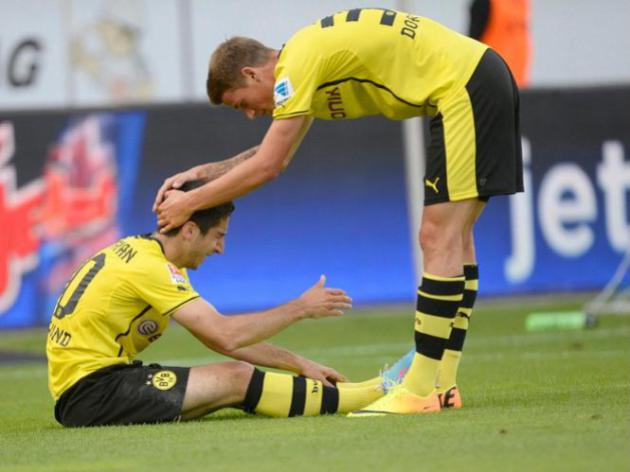 Mkhitaryan suffers ankle injury in Dortmund friendly