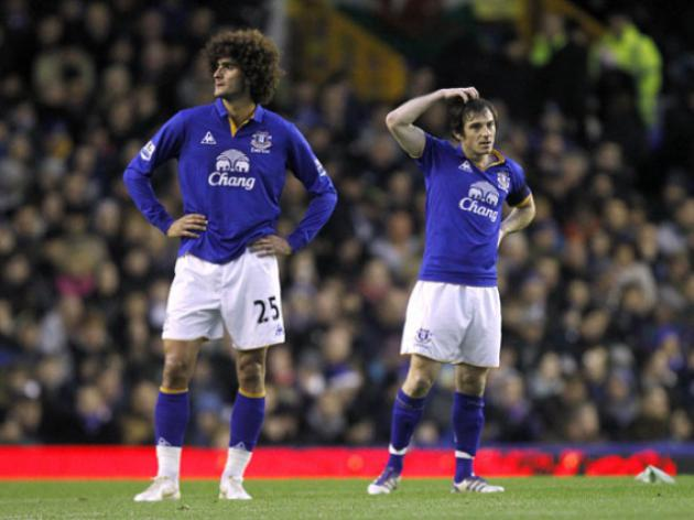 Moyes may try to get Everton's Baines and Fellaini for Manchester United