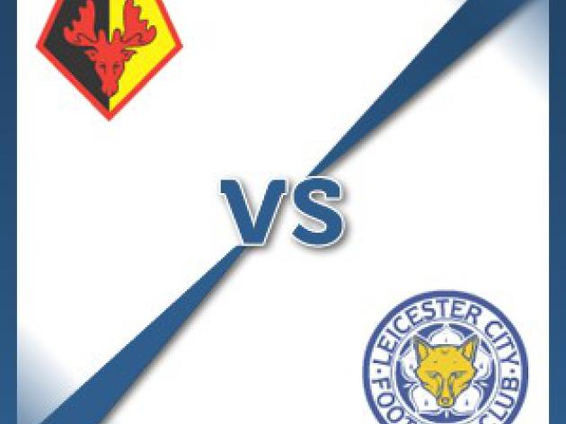 Leicester City away at Watford - Follow LIVE text commentary