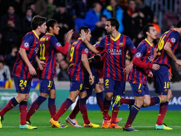 Barca draw Man City in Champions League