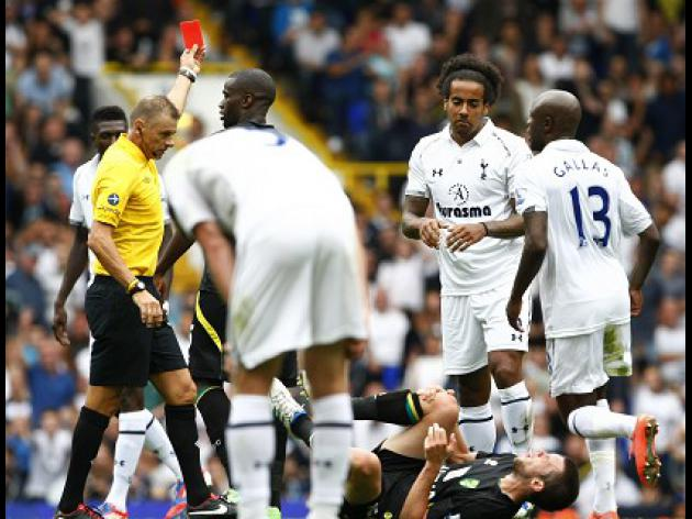 Huddlestone red card overturned