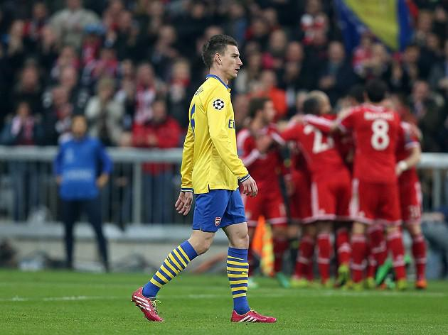 Arsenal bow out at Bayern's hands