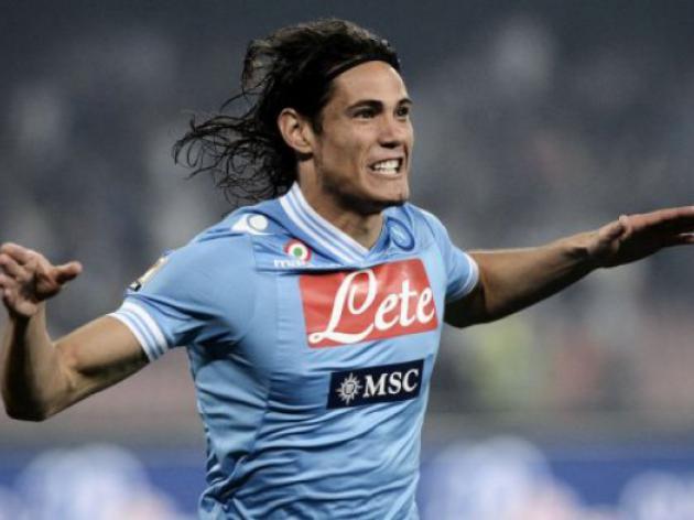 Cavani hat-trick takes Napoli tally to 101