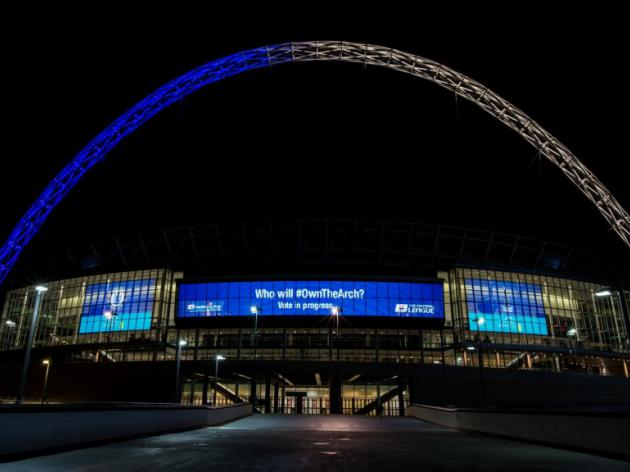 Are Tottenham set to turn the Wembley arch... white?