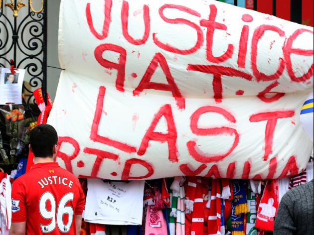 Liverpool tribute to Hillsborough dead