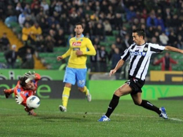 Udinese and Napoli miss chance to go third