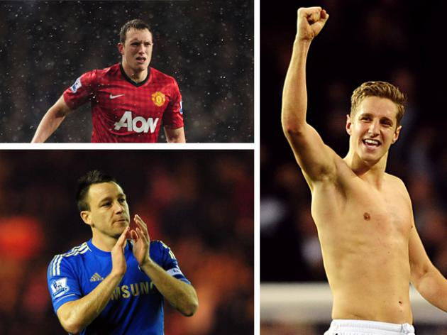 Chelsea's John Terry, Manchester United's Phil Jones, Englands Centre back race