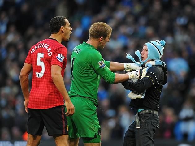 Manchester City may hand pitch invader lifetime ban