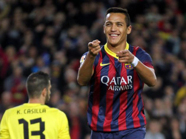 Barca down Espanyol thanks to Sanchez