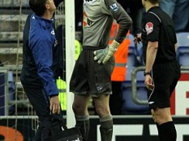 FA confirm investigation after Wigan keeper Kirkland is struck by missile