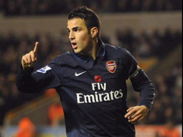 Fabregas keeps focus on Gunners