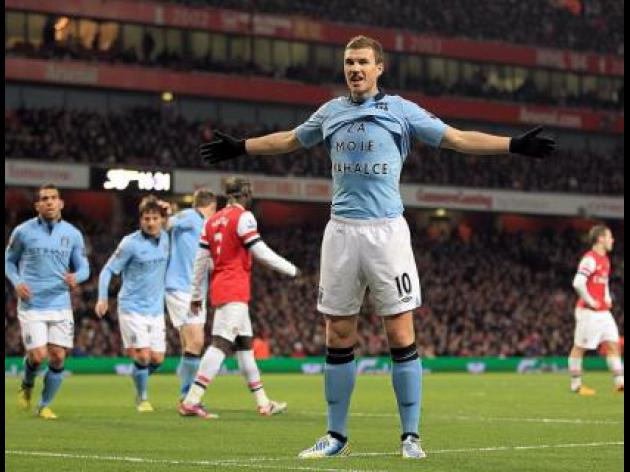 City edge past Gunners