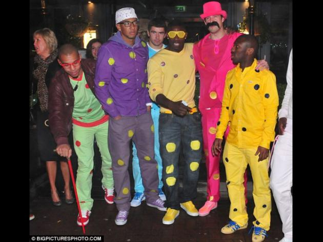 Manchester City players get festive in fancy dress for Christmas party