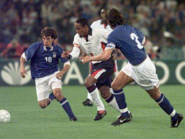 World Cup 2014 - 97 days to go: England v Italy - 11/10/97