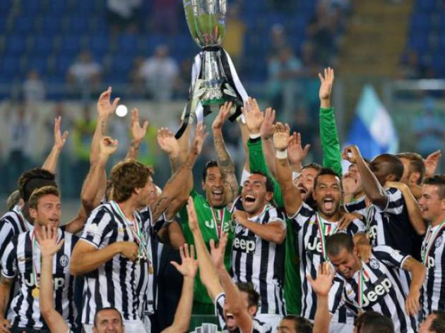 Tevez on target as Juventus thrash Lazio in Super Cup