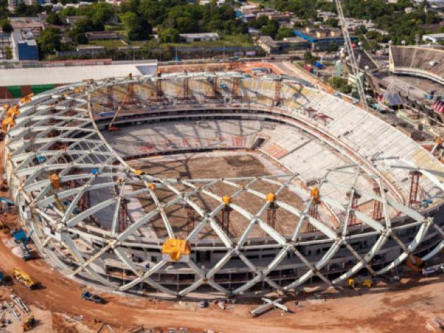 Work resumes at Brazil World Cup venue after fatality