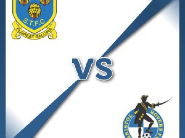 Bristol Rovers away at Shrewsbury Town - Follow LIVE text commentary