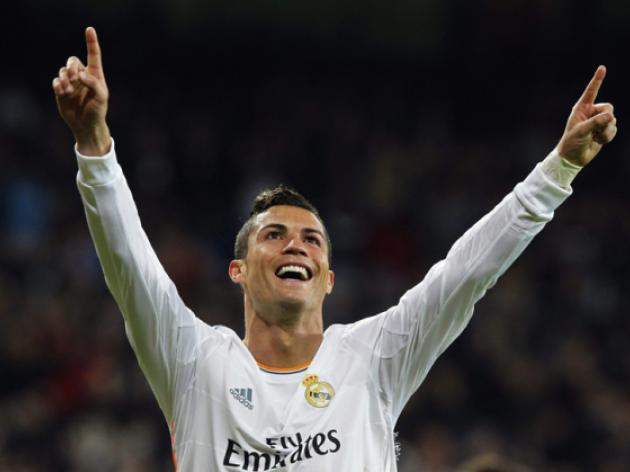 Ronaldo double keeps Madrid in title hunt