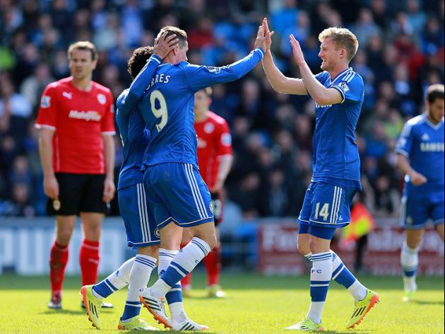 Chelsea finish with scrappy win at Cardiff