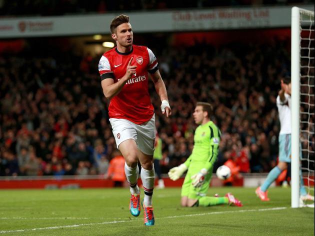 Giroud resilience impresses Wenger