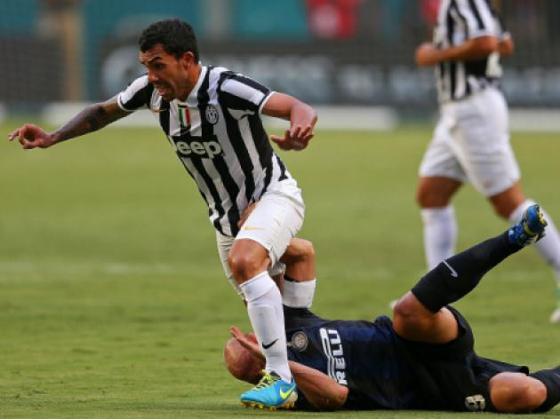 Tevez on target for Juve as Verona sink Milan