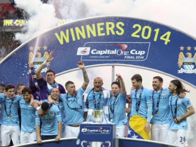 Manchester City 3-1 Sunderland : Second half comeback leads City to League Cup triumph