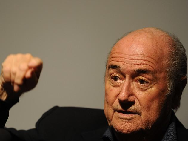 Blatter over the moon about inter-planetary football